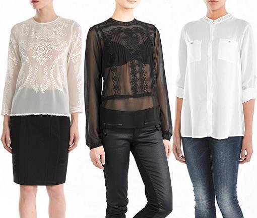 camisas sfera ropa para mujer del invierno 2013