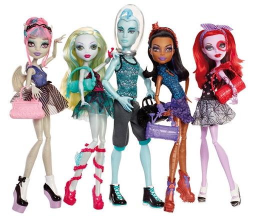 Pack 5 muñecas Monster High