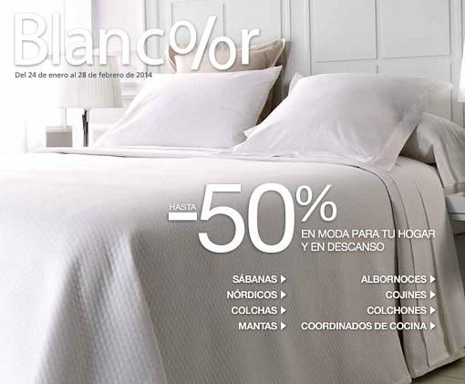 Blancolor 2014 ofertas el corte ingl s en textiles para for Rebajas de muebles en el corte ingles