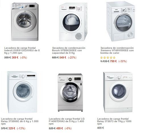 Ofertas en lavadoras El Corte Inglés