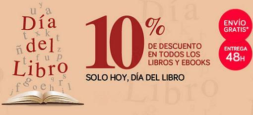 Hoy día del libro 2014 en El Corte Inglés: Un 10% de descuento