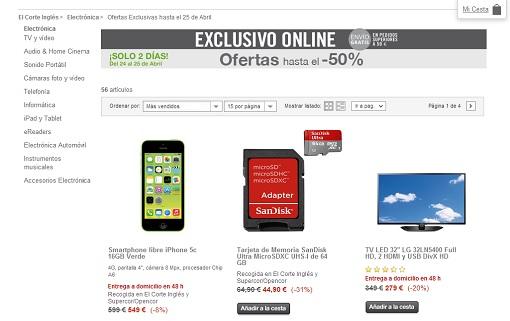 Ventajas de la tienda online el corte ingl s ofertas - Catalogo del el corte ingles ...