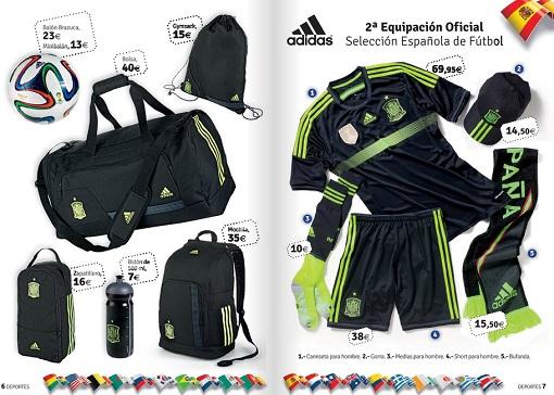 equipación de fútbol de España en El Corte Inglés