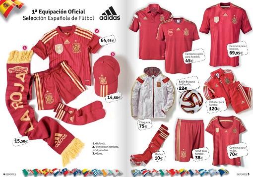 El Corte Inglés vive el Mundial 2014: equipación de la selección española de fútbol y mucho más ...