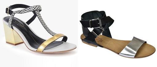 sandalias metalizadas el corte inglés