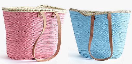 cestas de mimbre decoradas