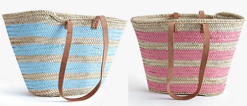 Nuevas cestas de mimbre y capazos para la playa pintados - Capazos de mimbre decorados ...