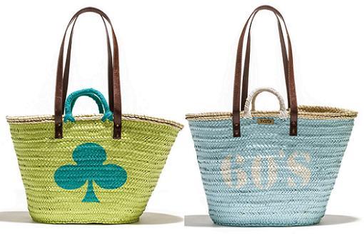 cestas de mimbre playa