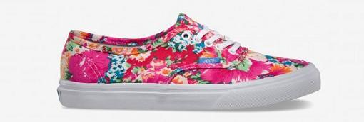 zapatillas vans de flores