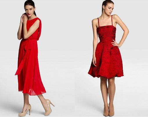 vestidos rojos el corte inglés