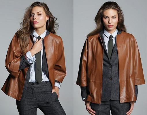 chaqueta cuero el corte inglés