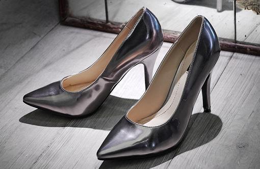 sfera zapatos plateados