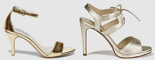 zapatos dorados el corte ingles