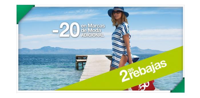 segundas rebajas el corte ingles verano 2015 20% de descuento adicional en moda