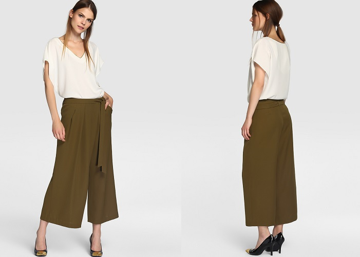 Pantalones culotte el corte inglés