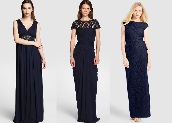 vestidos azul noche