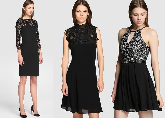 vestidos de fiesta negros el corte inglés