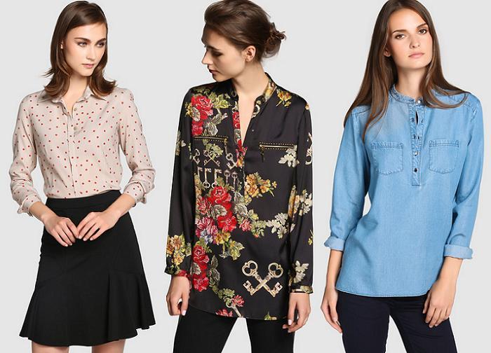 camisas el corte ingles mujer otoño invierno 2015 2016