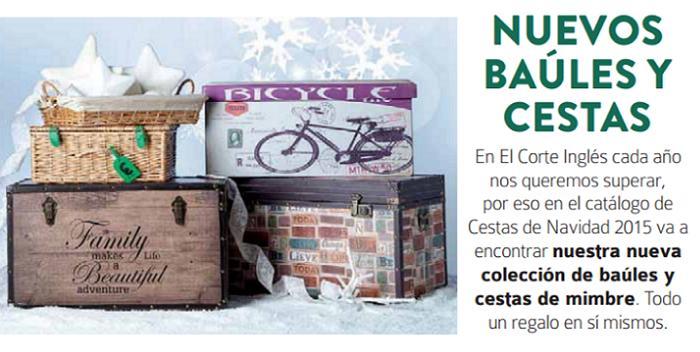 baules cestas de navidad el corte ingles 2015