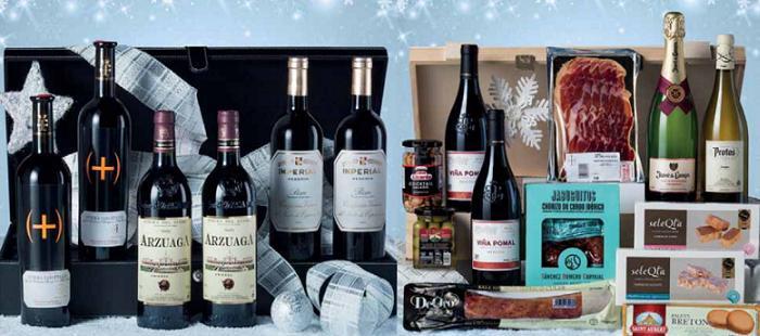 cajas cestas de navidad el corte ingles 2015