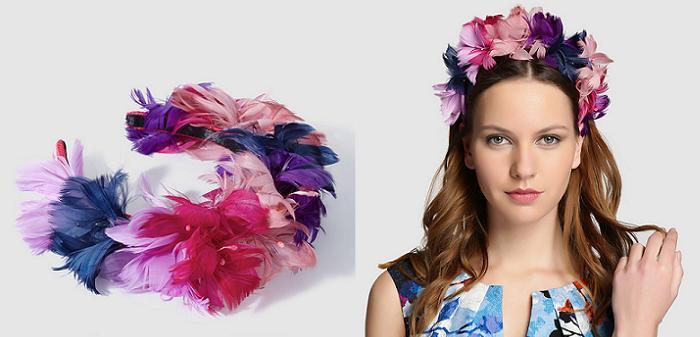 diademas de flores plumas el corte ingles