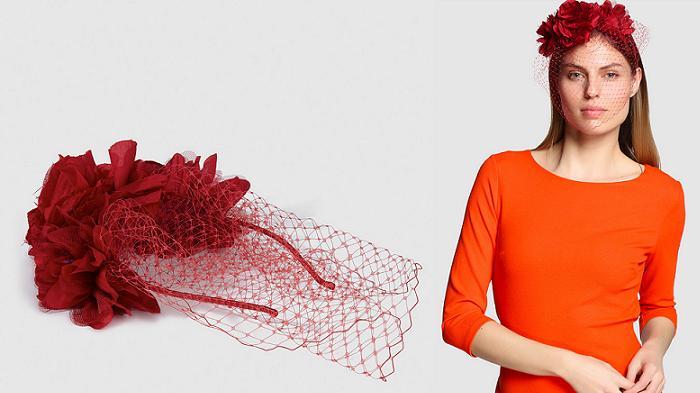 tocados con flores redecilla el corte ingles para bodas