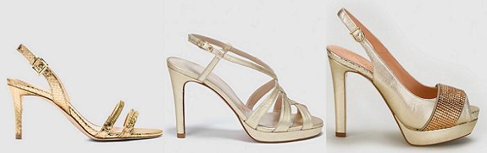 sandalias doradas de tacon el corte ingles 2016