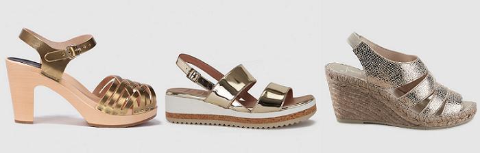 sandalias doradas el corte ingles moda 2016