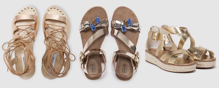 sandalias doradas el corte ingles romanas