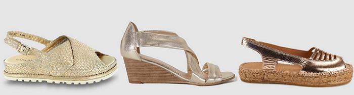 sandalias doradas el corte ingles