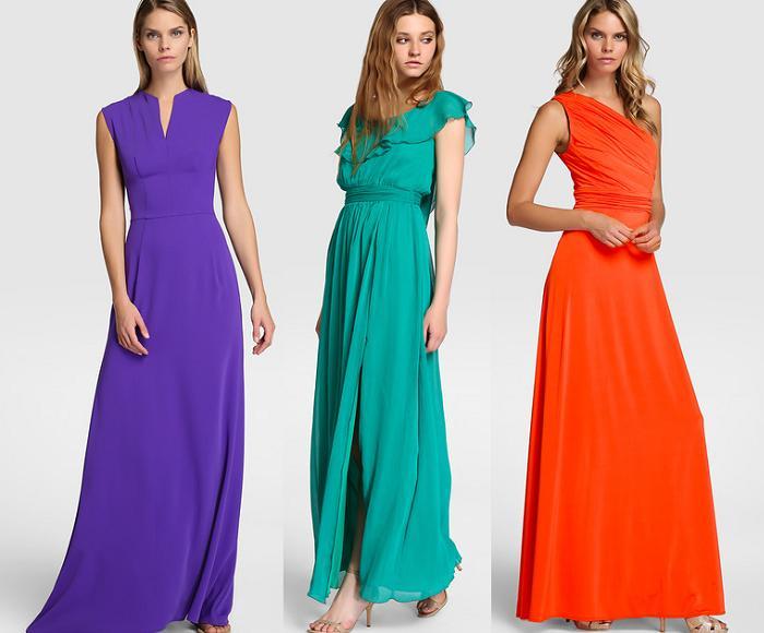vestidos el corte ingles para bodas de noche 2016