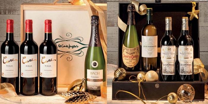 cestas de navidad el corte ingles 2016 cajas de vinos